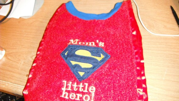 Superman baby bib