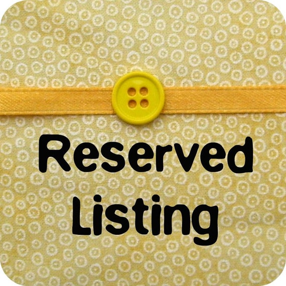 Reserved Listing For Sarah