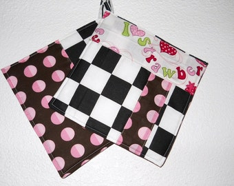 Checker Potholders-Kitchen Hot Pads