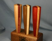 Wood Beer Tap Handle Set of Three - 5.5 inches tall - Made to Order