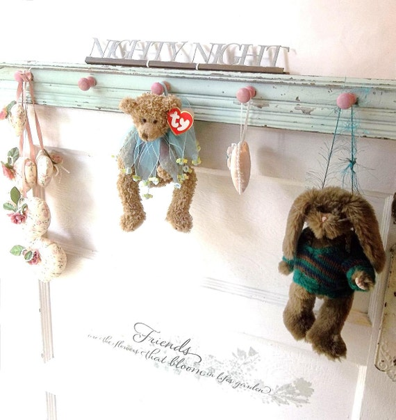 RESERVED for Beverly  Shabby Rustic  Antique Wood Wall Hook. Chair Rail Old School House Style Country Chic. Shabby Chic Aqua Pink