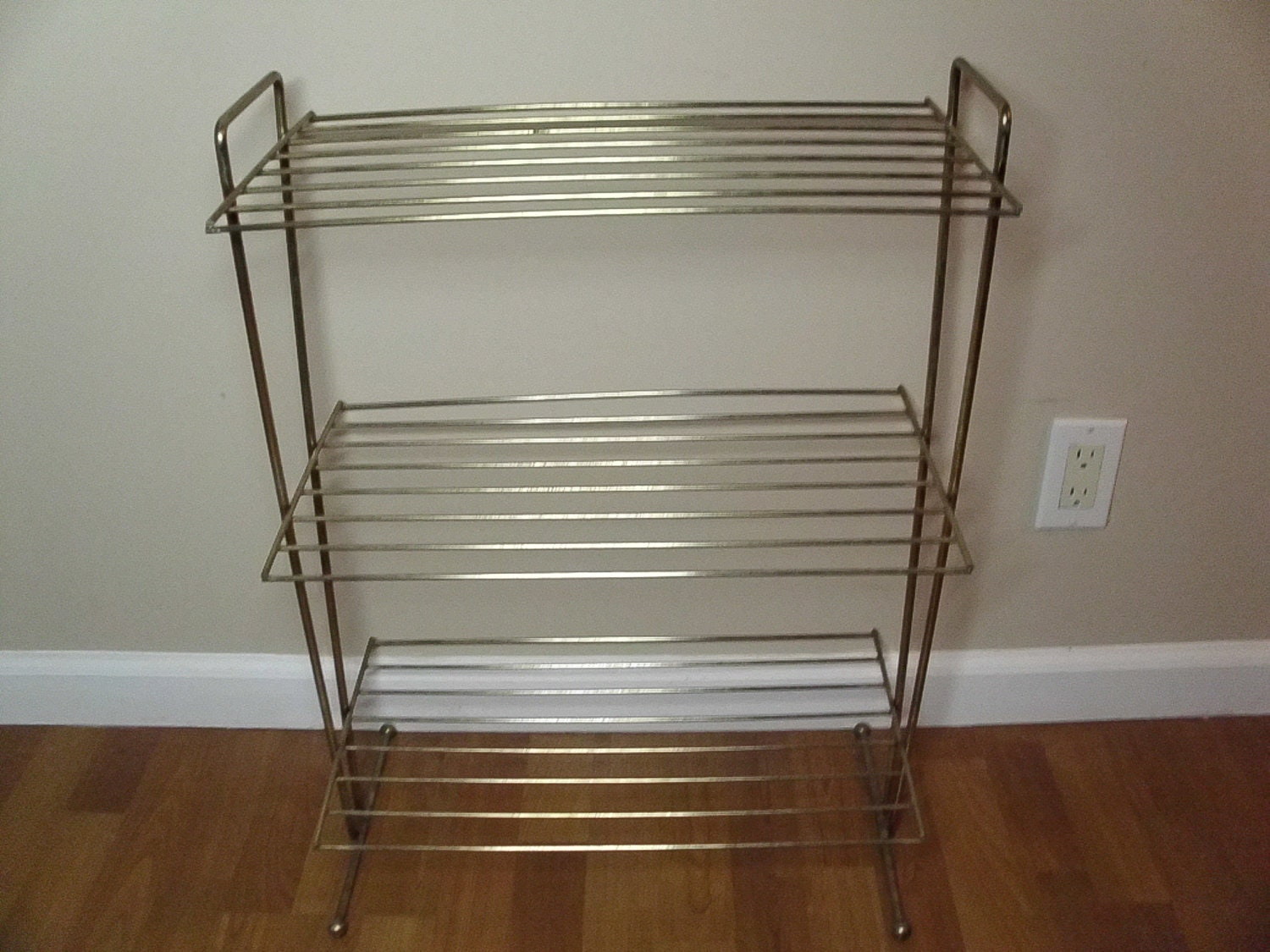 Vintage 1950 39 s 1960 39 s three tiered metal plant stand - Tiered metal plant stand ...