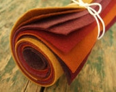 9x12 Wool Felt Sheets - The Fall Foliage Collection - 8 Sheets of Felt