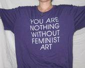 3X Purple Feminist Art T