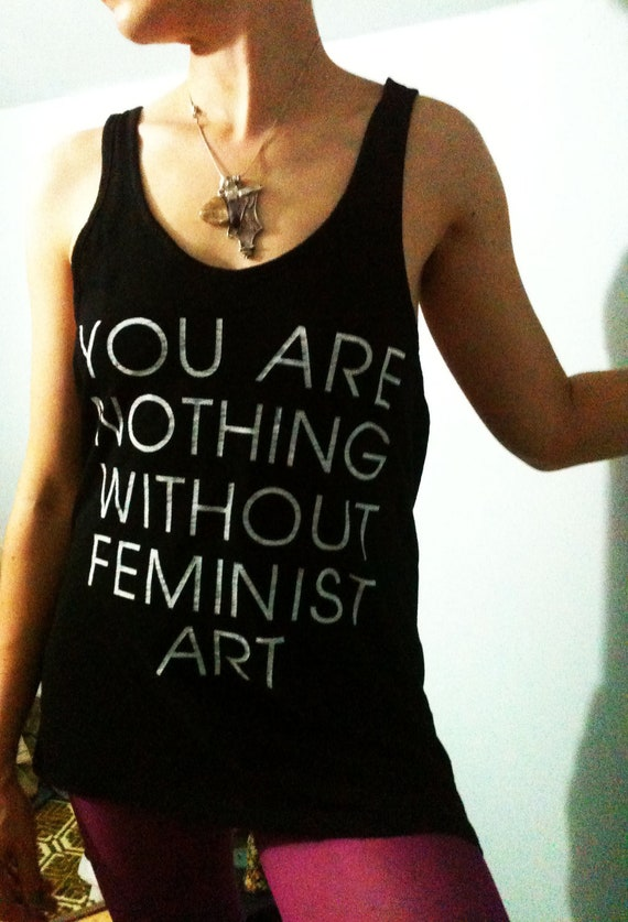 Feminist Art Black Large Tank