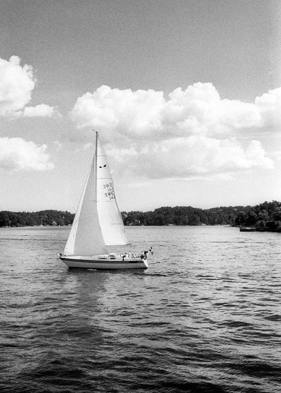 Nautical sweden photography beach ocean boat lines sailing