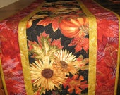 Table Runner, Sunflowers, Pumpkins and Apples