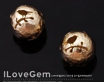 NP-1341 Matt Gold plated, Bird, Beads, 10.5mm, 2pcs