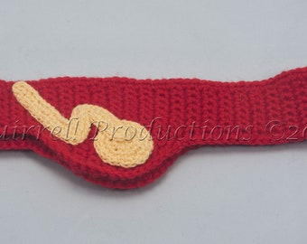 The Flash headband, made to order in adult sizes