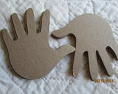 DIY Kits-Baby Hand- Blank Chipboard Hand Shapes for Decorating-Raw Unfinished Chipboard-Country Hand Print Shapes-Kids Crafts