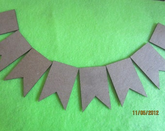 DIY 2 Point Pennant Micro Banner Kit -Chipboard Banner Blanks -  Banner Shapes for Decorating-Unfinished Banners for Parties