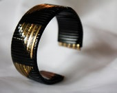 Black and Gold Woven Cuff