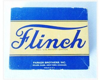 Very Vintage FLINCH CARD GAME Parlor Collectible Many Games in One