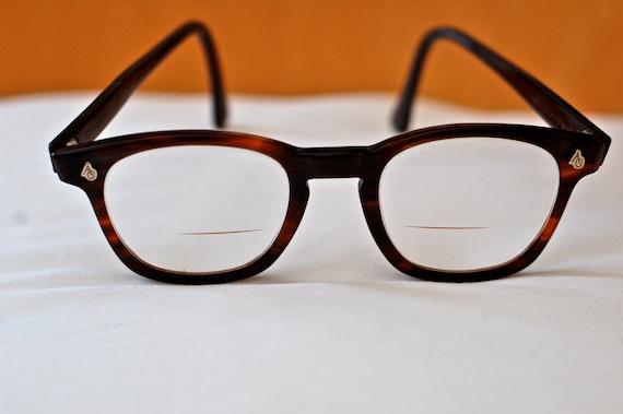 RESERVED Vintage American Optical Flexi-fit Wayfarer style Tortoiseshell Safety Glasses