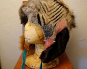 Patchwork Faux Fur Animal Hat with Silk Lining