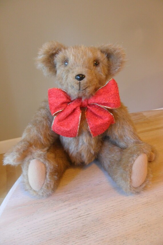 Teddy Bear Stuffed Animal - Fully Jointed- Large, Fuzzy, and Cute