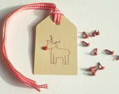 Holiday Reindeer Olive Wood Stamp