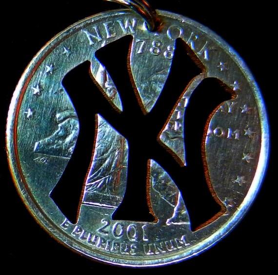 New York Yankee's Hand Cut Coin Jewelry