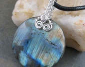 Wicked Medallion - Labradorite Pendant in Sterling Silver