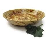 Serving Bowl Earth Tones of Tan Brown Rust