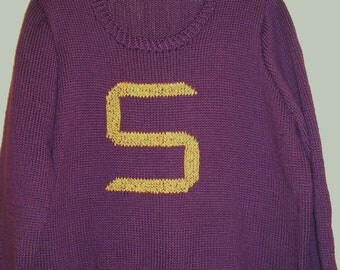 Harry Pottter Sweater  (You supply the sweater and I will do the initial)