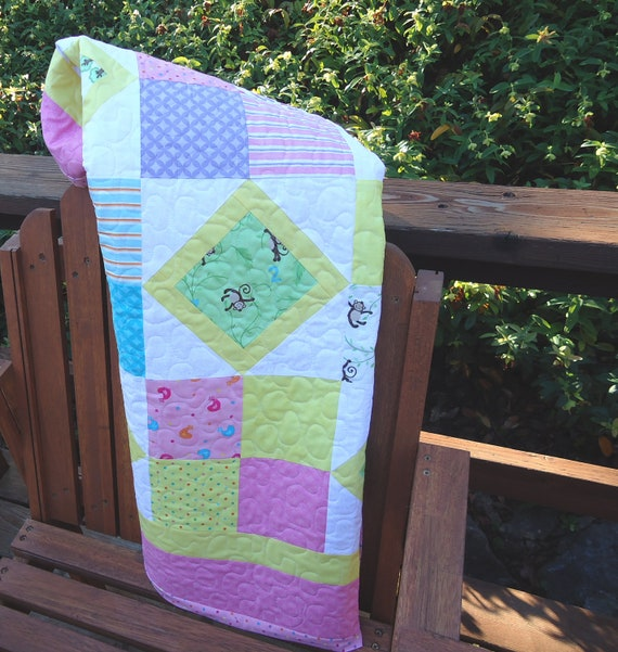 Grow With Me Baby Girl Quilt