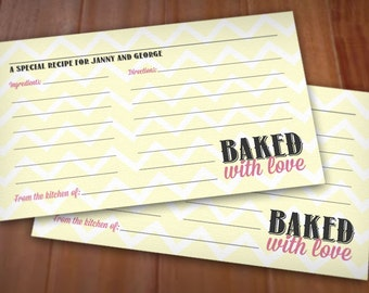 BAKED WITH LOVE Recipe Card Printable