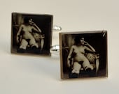 Vintage Pin Up Girl Cuff Links