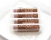 CLEARANCE SALE - Decadent Chocolate Lip Balm - Beeswax Lip Balm Shea Butter Lip Balm - One Lip Balm Tube