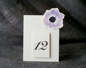 Table Number- Purple Flower Anemone - Weddings, showers, events, parties, holidays