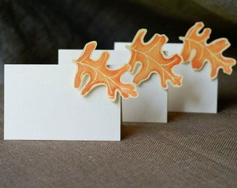 Fall Oak Leaf - Place Card - Gift Card - Table Number Card - Menu Card -weddings events
