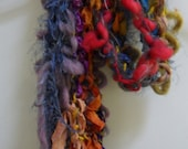 Warm Scarf, Collage of Fiber, Texture and Color