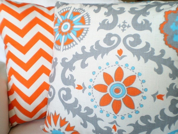 orange gray pillow covers decorative throw pillows cushion. Black Bedroom Furniture Sets. Home Design Ideas