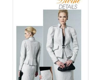 SZ 14/16/18/20 - Vogue Suit Pattern V8677 - Misses' Jacket and Skirt - DIVINE DETAILS