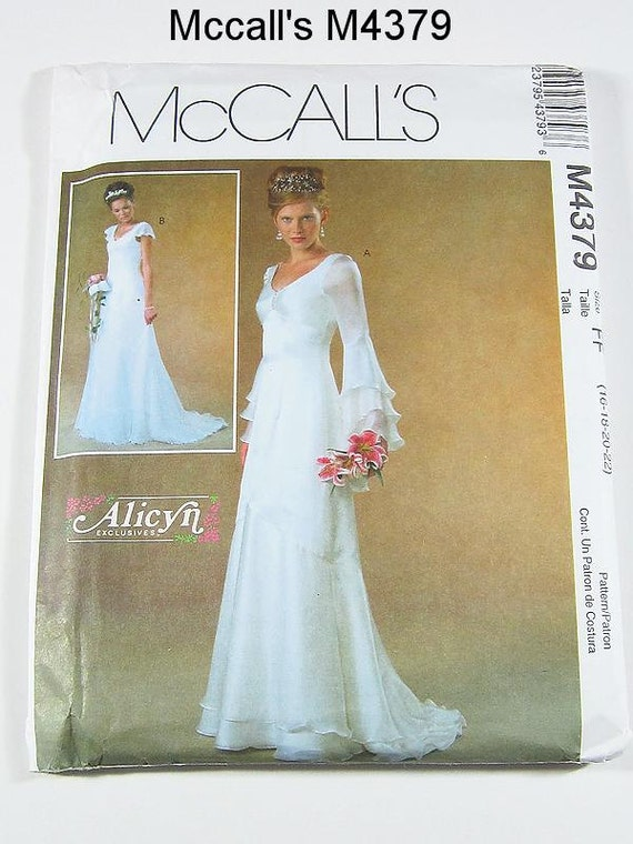Mccalls wedding dress pattern m4379 misses 39 bridal gowns for Sewing patterns wedding dress