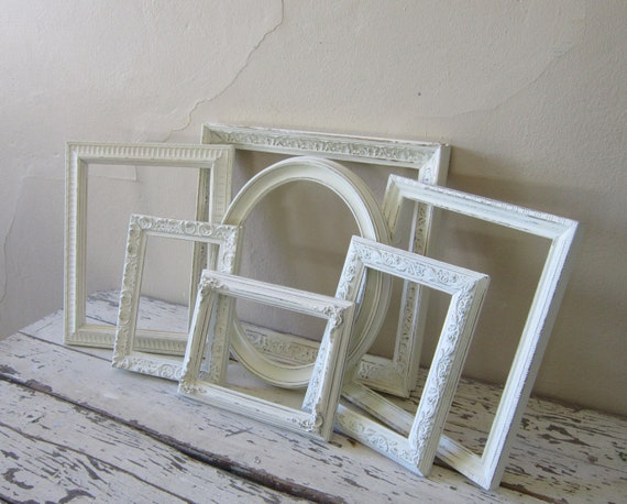 Frame Set - French country - Shabby and Chic  - Cottage Home decor - Paris Chic  - Vintage - wall decor