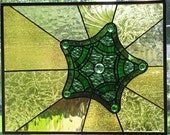 Diatom Stained Glass Panel Made to Order