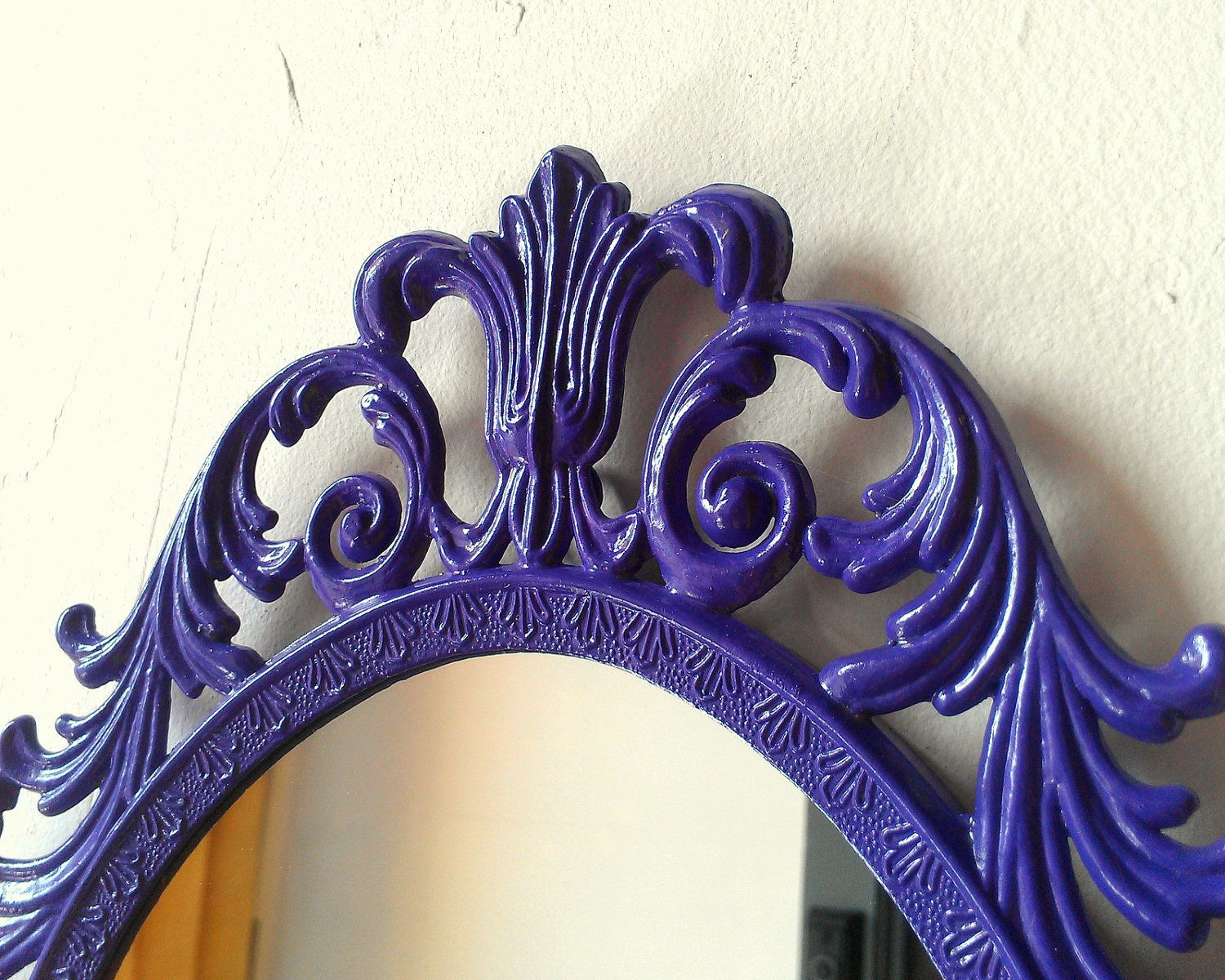 Details about brass photo frame vintage ornate oval frame victorian - Fairy Princess Mirror Ornate Vintage Frame In Purple Pansy