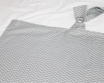 Grey Chevron Nursing Cover - two-tone grey