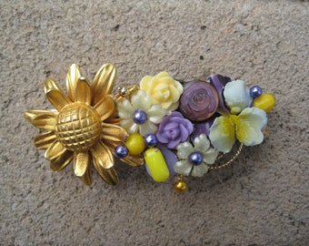 Sunshine Collage Hair Barrette