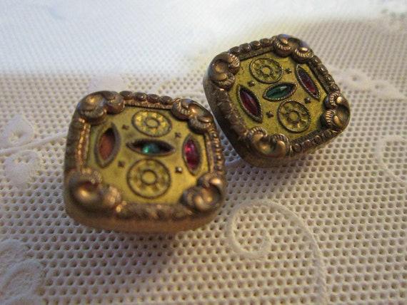 antique findings - STEAMPUNK fodder - unique design, bejeweled