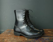Vietnam Era Army Combat Leather Boots / Men 9