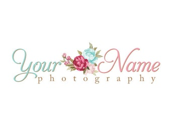 Photography Logo & Watermark - Pre-made for Photographer - Roses