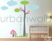 Vinyl Wall Sticker Decal Art - Height Chart Tree