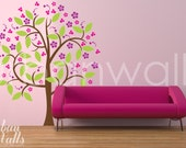 Vinyl Wall Sticker Decal Art - Girly Girl Tree