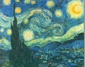 Jigsaw Puzzle, wooden, custom, handcut 8 x 10 Starry Night with 112 Pieces Ready to Ship