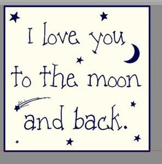 Items Similar To I Love You To The Moon And Back Vinyl: Items Similar To I Love You To The Moon And Back Wooden