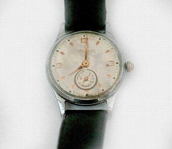 "Soviet Russian Watch Mens ""KAMA"" - Working - 1950s - vintage from Russia / Soviet Union / USSR"