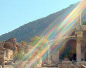 Divine Intervention - Inspirational Rainbow from either Ancient Ephesus or Death Valley National Park Photo Bookmark