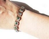 Rustic Ornate Bohemian Swarovski Crystal Bracelet